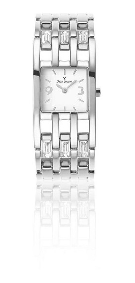 Relógio Jean Vernier Pulseira E Caixa Em Aço Feminino Social