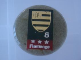 Cod 020 - Botão Embandeirado Do Flamengo Numero 8