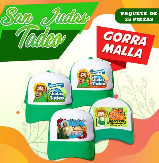 Gorra De Malla San Judas Tadeo Sublimada Pack/ 25 Piezas
