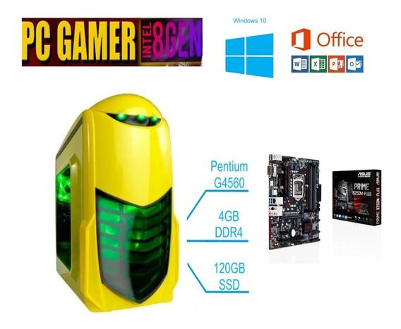 Pc Gamer Pentium 8º Ger 3.50ghz 4gb Ddr4 Hd 120gb Ssd
