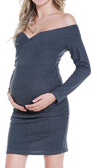 Vestido Bebé Maternidad Ropa Sere Embarazada Falda Mamá Moda