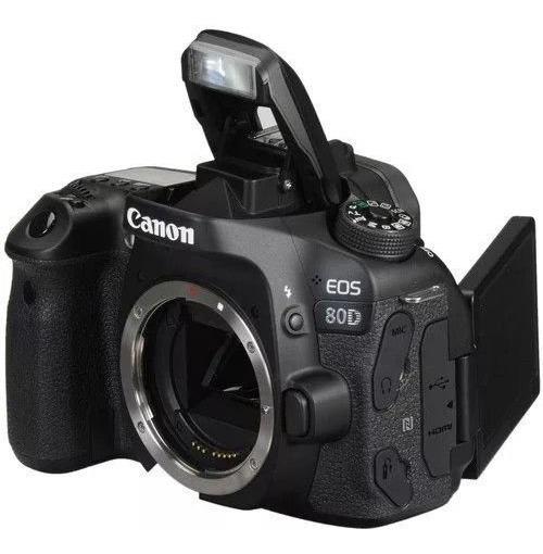 Cemera Canon Eos 80d Dslr Novo