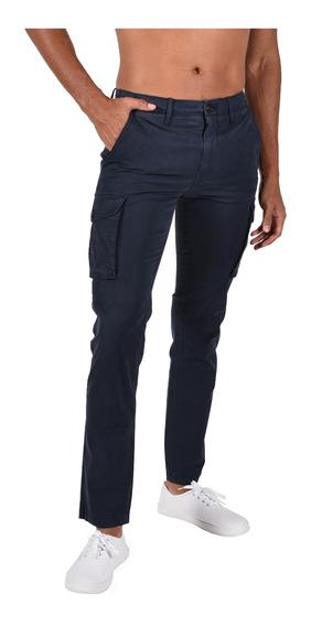 Pantalón Straight Fit Tommy Azul Mw0mw03446-403 Hombre