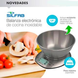 Balanza Electrónica Cocina Silfab Bc-304 Dia De La Madre Ya!