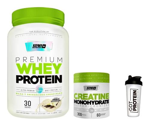Premium Whey Protein 1 Kg + Creatina + Vaso Star Nutrition