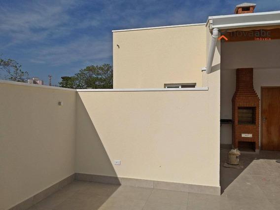 Cobertura Com 2 Dormitórios À Venda, 50 M² Por R$ 0 - Jardim Utinga - Santo André/sp - Co0302