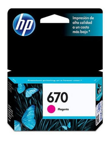 Cartucho Hp 670 Deskjet Ink Advantage 3525 Original Magenta