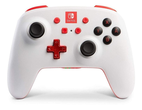 Controle joystick PowerA Enhanced Wireless Controller for Switch branco