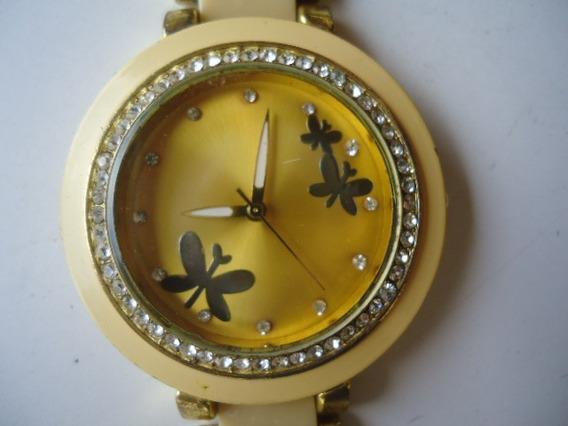 Relógio Feminino Grande Madrepérola Artificial Semi Novo