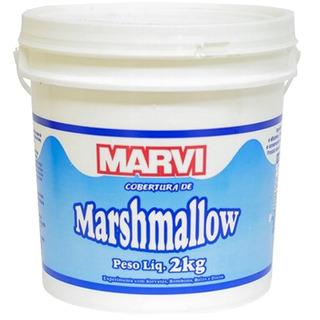 2kg Cobertura Recheio De Marshmallow Marvi - Balde