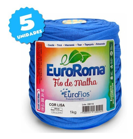 Fio De Malha Euroroma 1kg - Kit 5 Unidades
