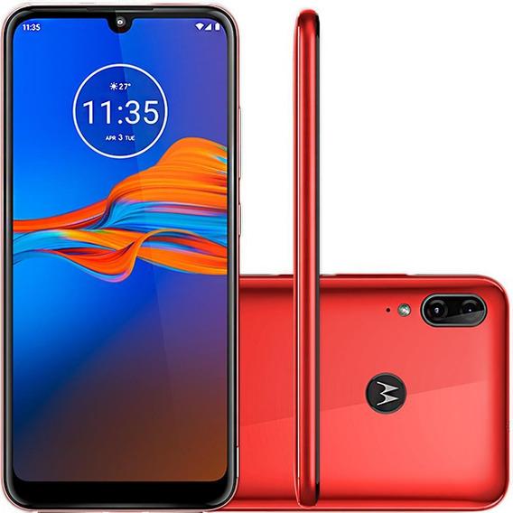 Celular Motorola Moto E6 Plus 32gb Vermelho Metálic 13mp+2mp