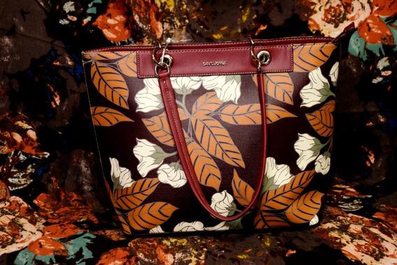 Hermosa Bolsa David Jones Con Estampado Floral Tote Bag