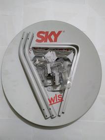 Kit 3 Antenas Ku Com Cabo Rg6, Lnb Simples E Conector Rg6.