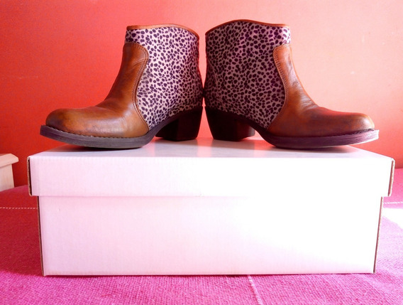 Botas Cortas Texanas Animal Print