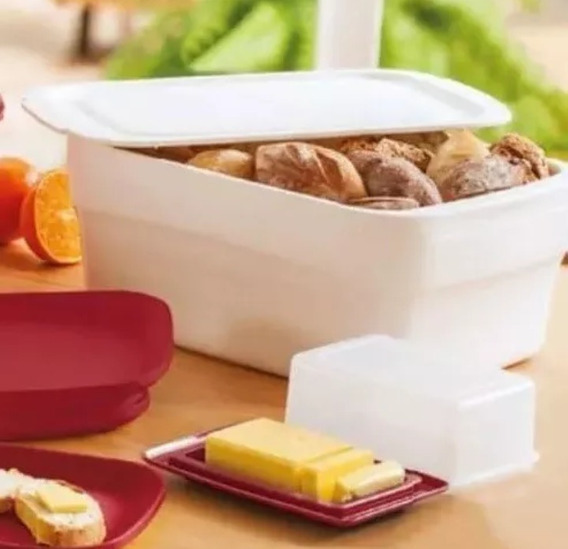Porta Pão Smart Plus Tupperware Branco 8,7 Litros - Original