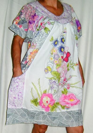 Vestido Gestante Usado Estampado Algodão Tamanho G