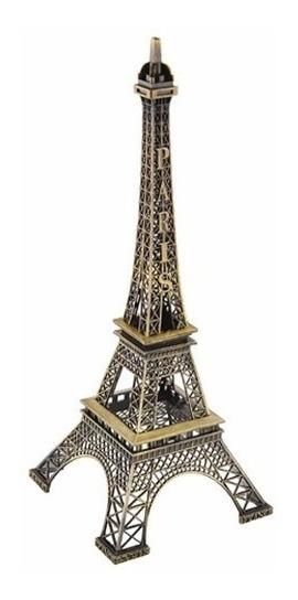 Torre Eiffel 18 Cm De Metal Francia Paris Mercado Envios