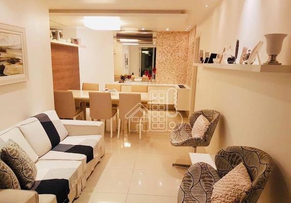 Apartamento Com 3 Dormitórios À Venda, 200 M² Por R$ 710.000,00 - Itaipu - Niterói/rj - Ap3026