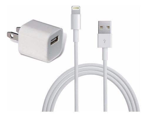 Original Cargador Cubo iPhone SE Lightning Apple Cable Pared