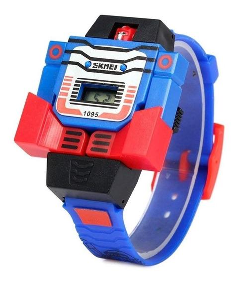 Skmei Reloj Niño Digital Robot Juguete Con Fecha Modelo 1095
