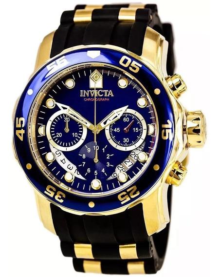 Relógio Pp984 Invicta Pro Diver 6983 - Ouro 18k Caixa Manual