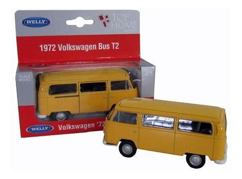 Miniatura Volkswagen Kombi 1972 Escala 1:34 Welly 11 Cm