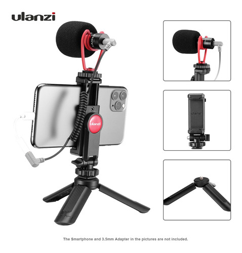 Imagen 1 de 9 de Ulanzi Smartphone Video Kit 1 Con Mini Trípode De Escritori