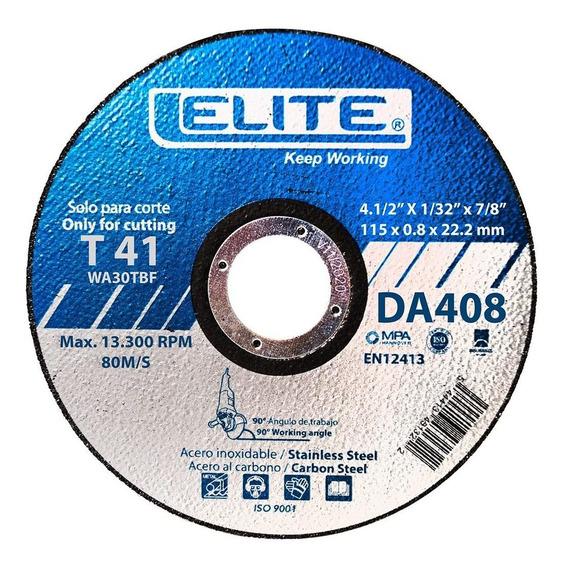 Disco Abrasivo De Corte De 4.1/2 X 0.8 Mm Elite Da408