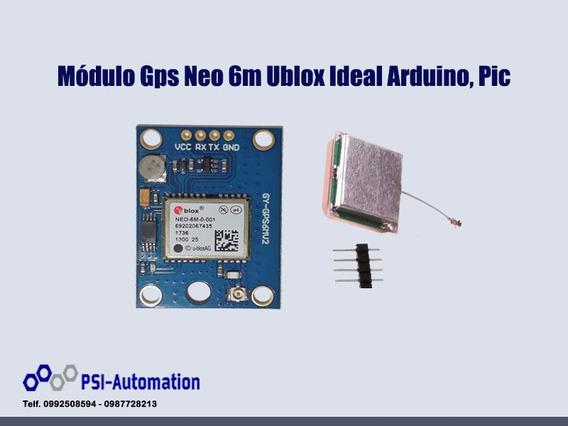 Módulo Gps Neo 6m Ublox Ideal Arduino, Pic.