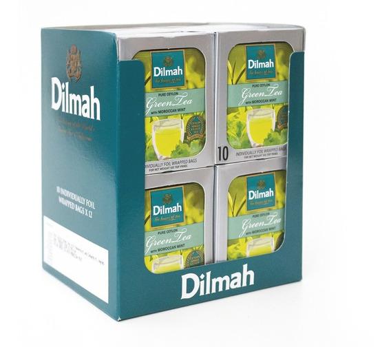 Té Verde Dilmah Moroccan Mint Display 12 Unidades.
