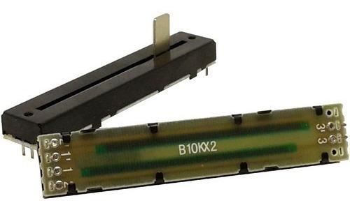 Potenciômetro Deslizante Stereo B10k B103 B10k 88mm X 60mm