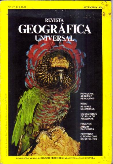 Rev National Geographic Geográfica Universal - Setembro 1978