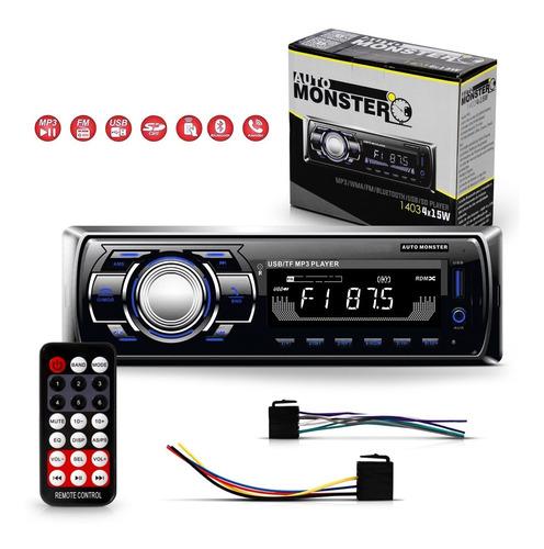 Som Mp3 Automotivo Radio Bluetooth Usb Leitor Cartão Sd