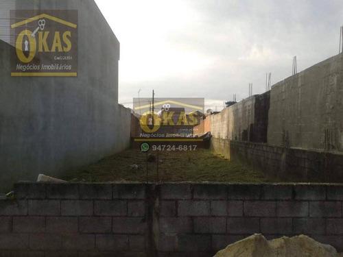 Imagem 1 de 3 de Terreno À Venda, 175 M² Por R$ 195.000,00 - Jardim Quaresmeira - Suzano/sp - Te0105