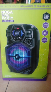 Parlante Bluetooth Karaoke Usb Radio Fm Noga De 8 Pulgadas