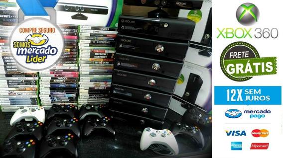 Xbox 360 Slim 4gb Na Caixa + Jogo Original E Frete Grátis