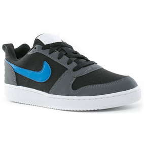 fe2e592619 Tenis Nike Court Borough Low Maculino(n°41) Cinza Azul Preto