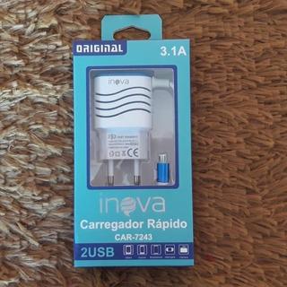 Carregador Inova Turbo 3.1a Original Para Sumsung, Lg Etc.