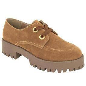 Zapatos Casuales Oxford 5cm Para Dama 020862 Camel Tp19