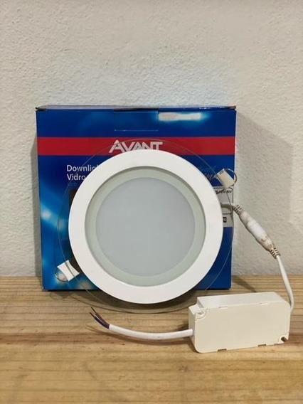 Painel Embutir Led Vidro Redondo Biv 12w Branco 6500k Avant