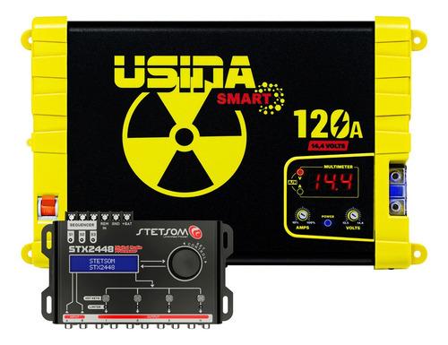 Imagem 1 de 8 de Kit Fonte Usina 120a Volt C/ Processador Stetsom Stx-2448