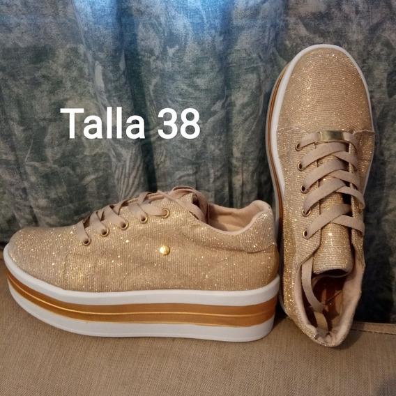 Zapatos Colombianos Escarchados De Dama
