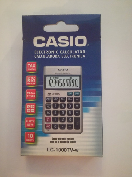Calcuradora Casio 10 Digitos Lc-1000tv-w