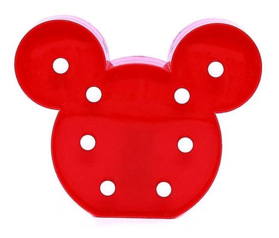 Luminoso Led Mickey Mouse Plastico Luminária Decoração Ep008