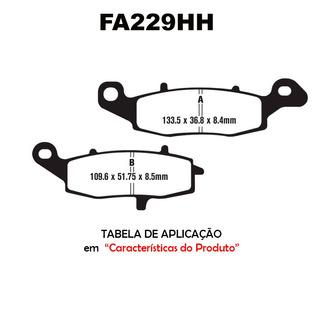 Pastilha Freio Moto Ebc Fa229hh Vulcan 800 900 1500 Er6n