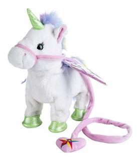 Unicornio De Peluche Camina Con Música Y Sonidos Unicorn