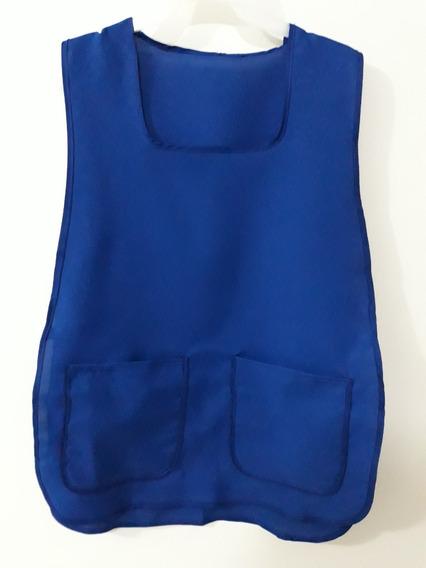 Mandil Casaca 2 Bolsas Azul Rey , Bajo Pedido Paquete 12 Pz