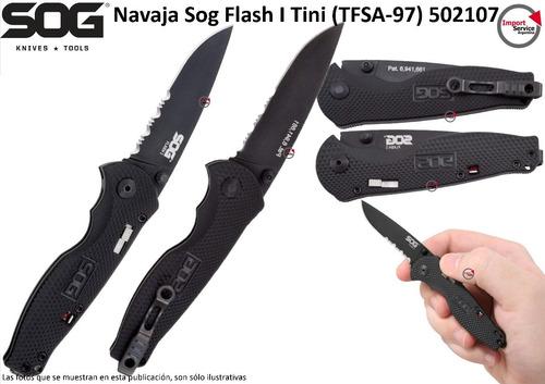 Imagen 1 de 9 de Navaja Sog Flash I Tini (tfsa-97) 502107 Plegable