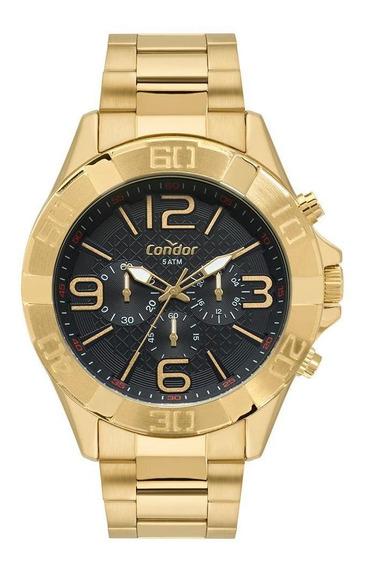 Relógio Condor Masculino Civic Dourado Covd54bd/4p